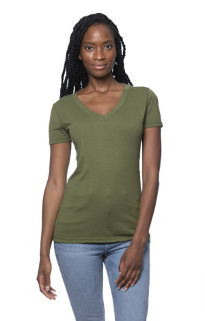 Hemp Cotton V-neck T-shirt